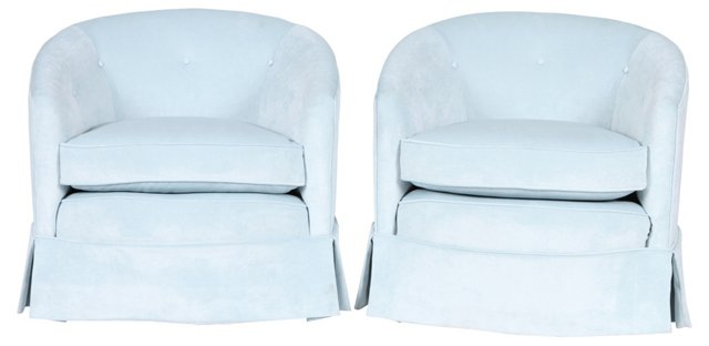 1960s   Club Chairs, Pair
