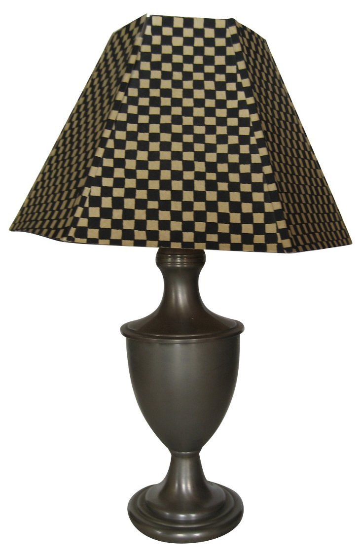 Pewter Trophy-Style Lamp