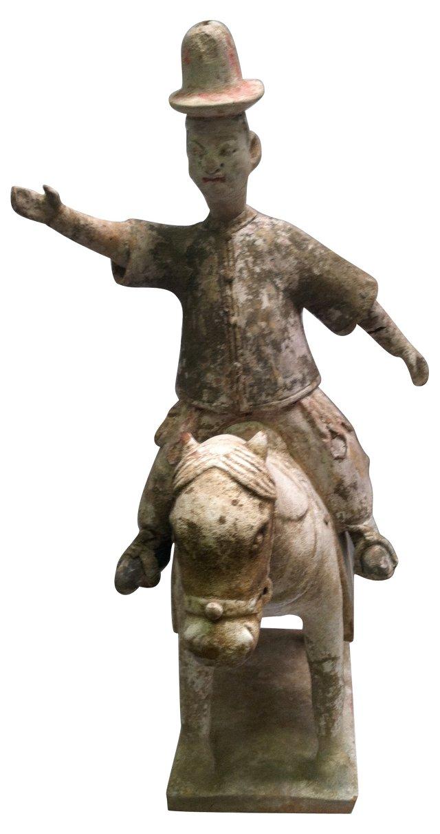 Glazed Han Dynasty-Style Figure