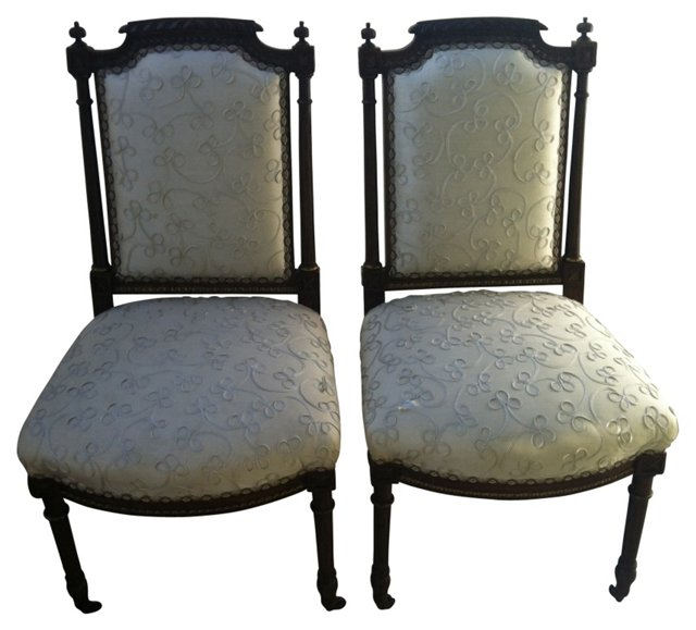 Hall Chairs, Pair