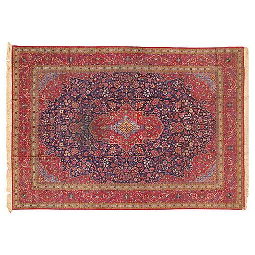 """Persian Kashan Rug, 8'7"""" x 11'11"""""""