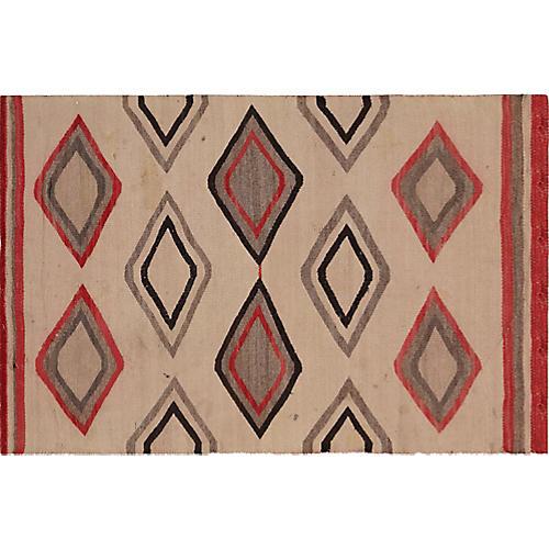 "Navajo-Style Rug, 2'7"" x 4'"