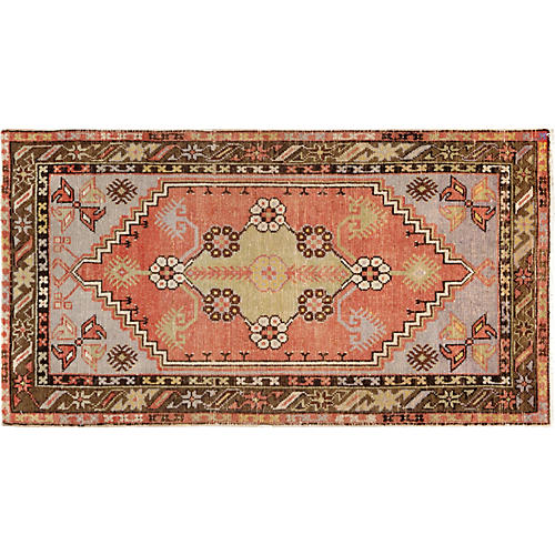 "Turkish Anatolian Rug, 2'6"" x 4'7"""