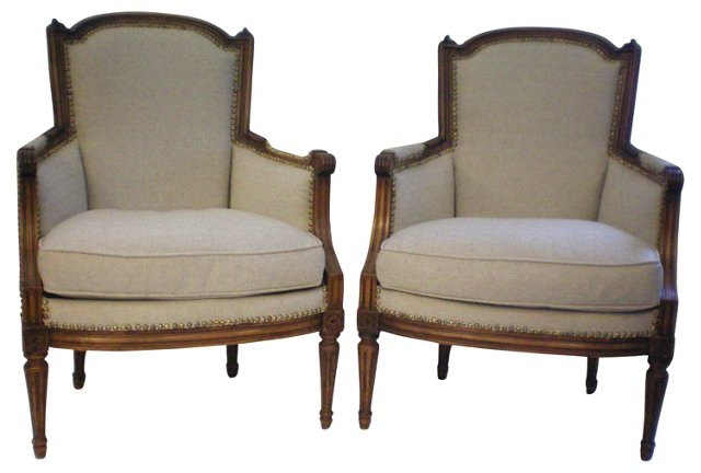 French Country Bergères, Pair