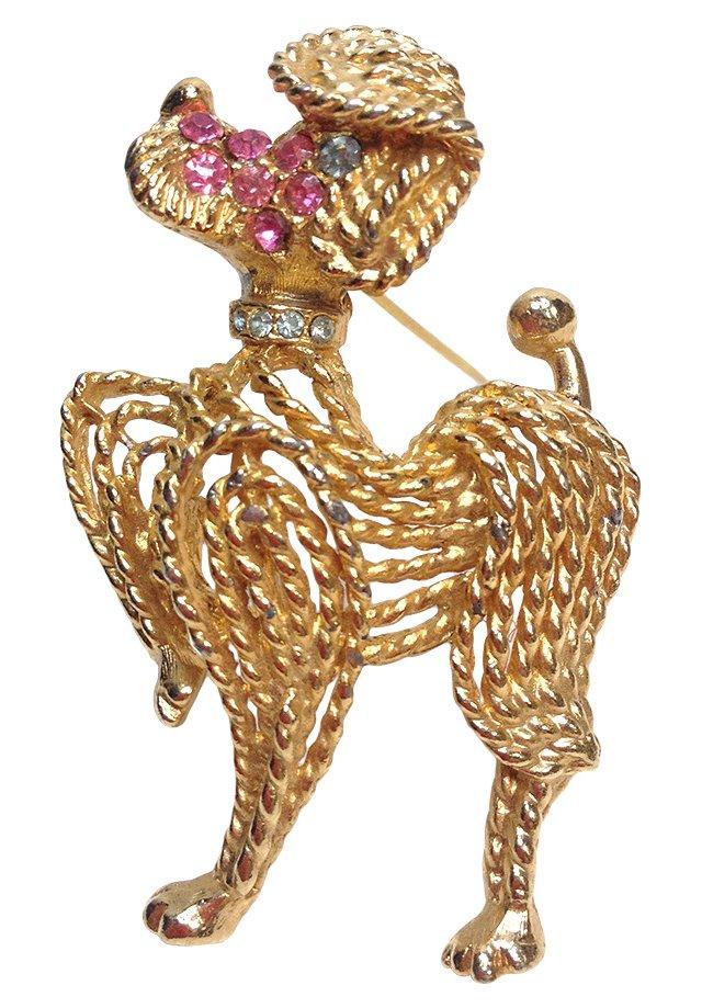 BSK Goldtone Poodle Brooch