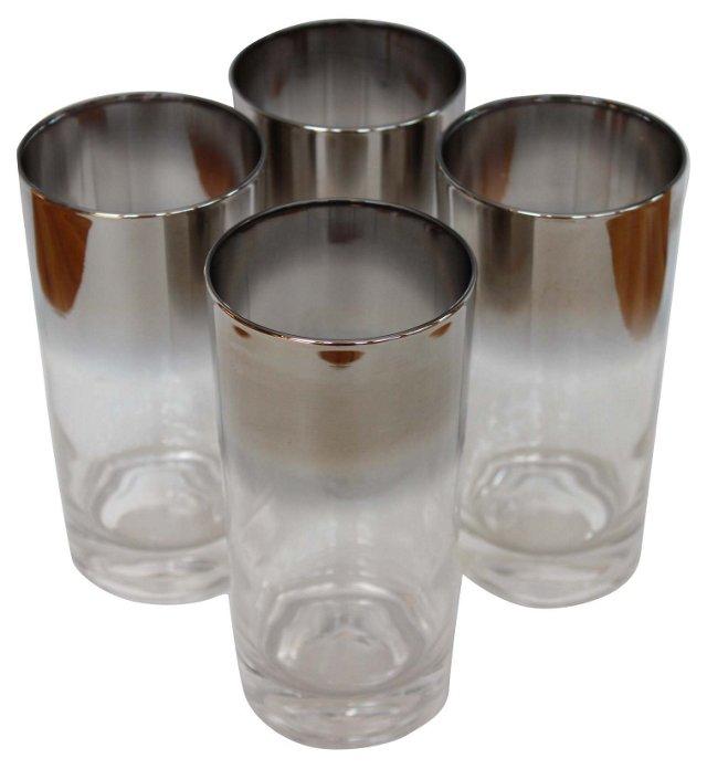 Silver Ombré Glasses, S/4