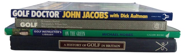 Golf Books, Set of 4