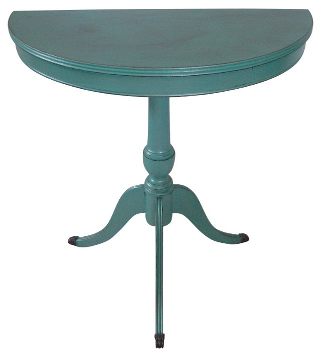 Turquoise Demilune Table