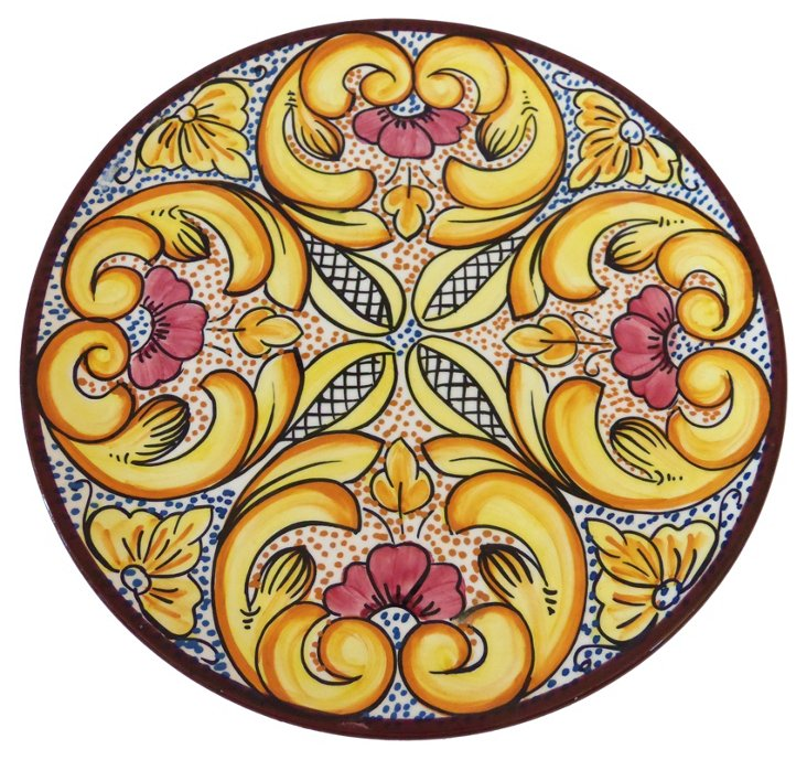 Hand-Painted Spanish Wall Plate