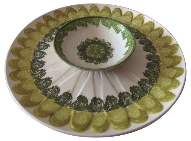 Midcentury Chip & Dip Dish