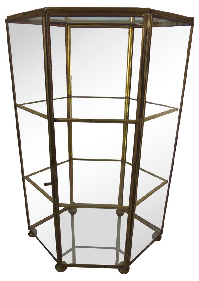 Brass & Glass Display Case