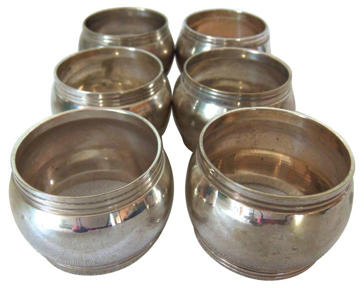 Silverplate Napkin Rings, S/6