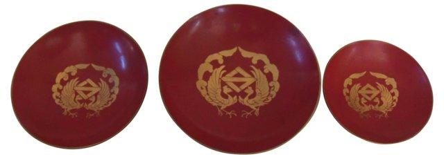 Lacquerware Mini Bowls, S/3