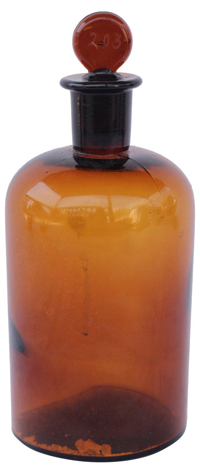 Brown Apothecary Jar
