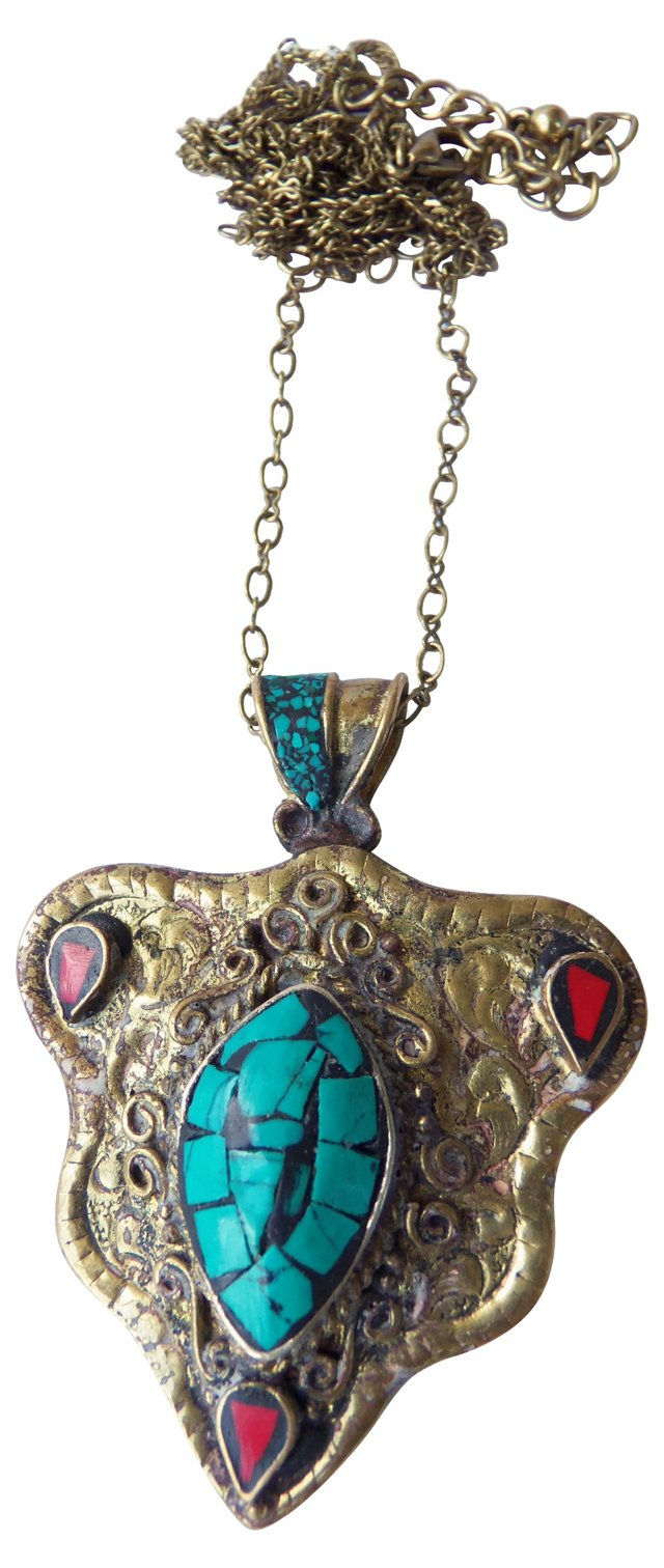 Moroccan Faux-Turquoise Necklace