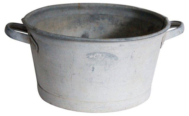 Zinc Bucket w/ Handles