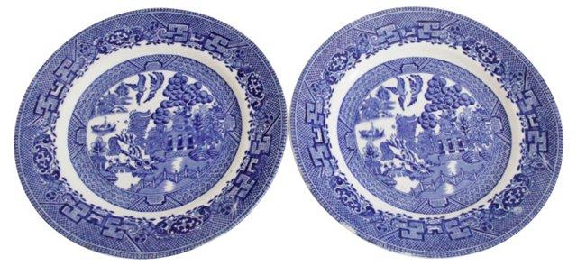Willow Royal Bread Plates, Pair