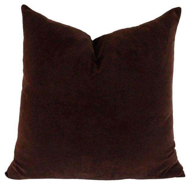 Espresso Belgian Velvet Pillow