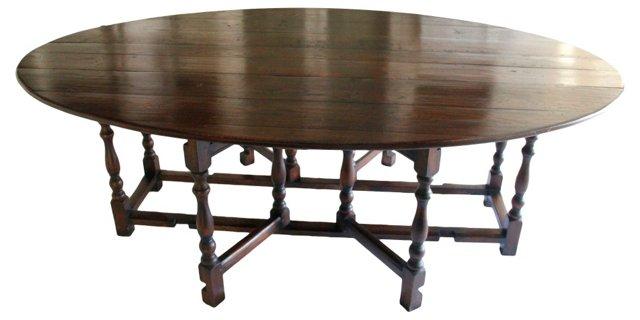 English Gate-Leg Dining Table