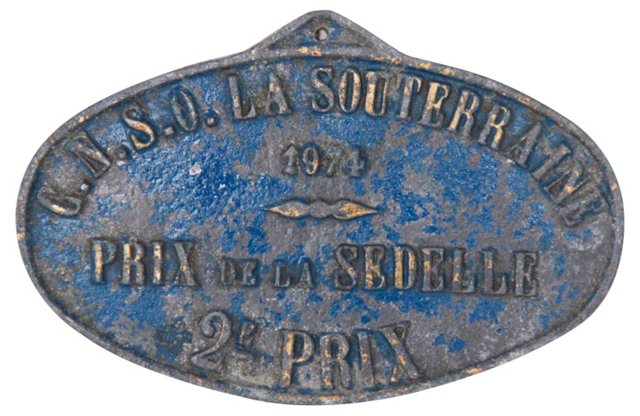 French Award Trophy Plaque, 1974