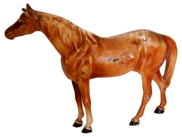 Cast Iron Chestnut Horse Doorstop