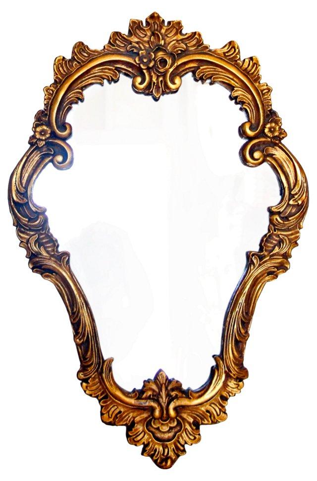 Italian Gilded Gesso Mirror