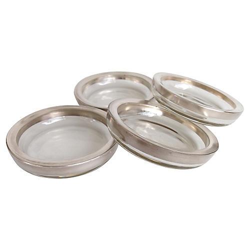 Thorpe Glass Coasters, S/4