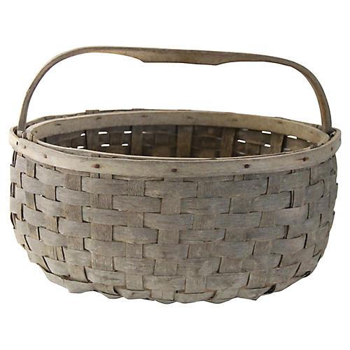 Antique Hickory Picking Basket