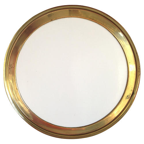 Brass & Formica Gallery Tray