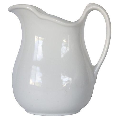 Large White Ironstone Milk Jug