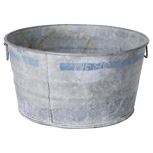 French Zinc Wash Tub