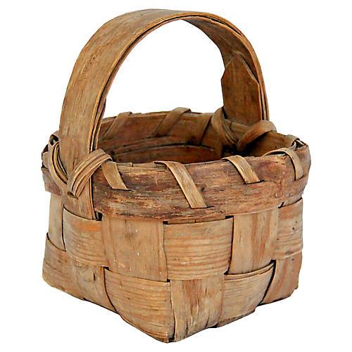 Petite French Splint Market Basket