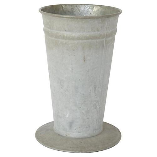 French Zinc Flower Market Bucket