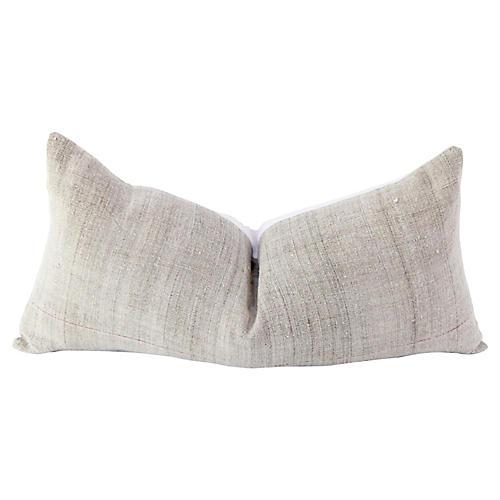 French Hand-Spun Linen Lumbar Pillow