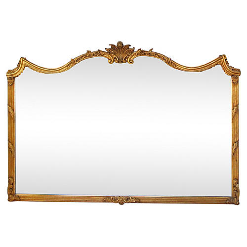 Oversize French Louis XV-Style Mirror