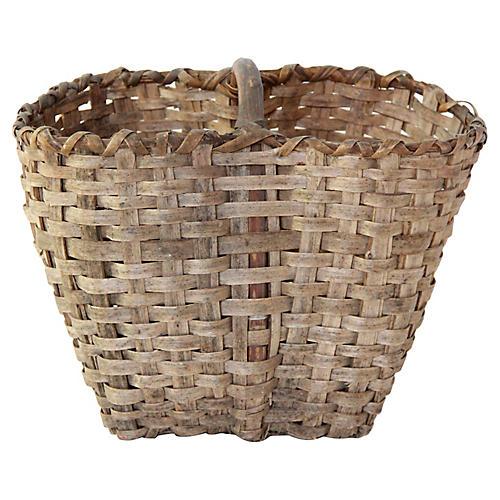 Antique European Market/Picking Basket
