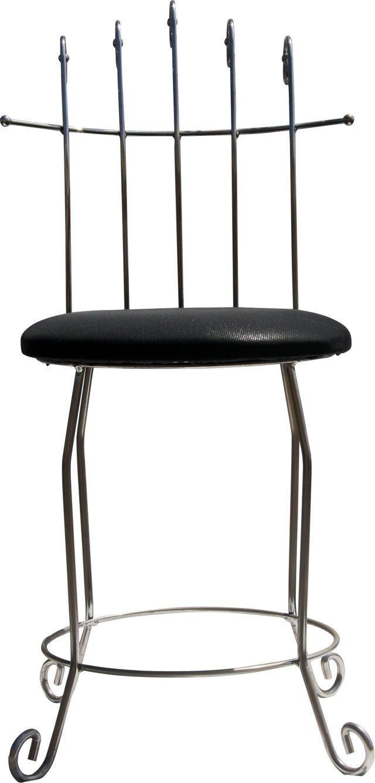 Chrome Vanity Chair