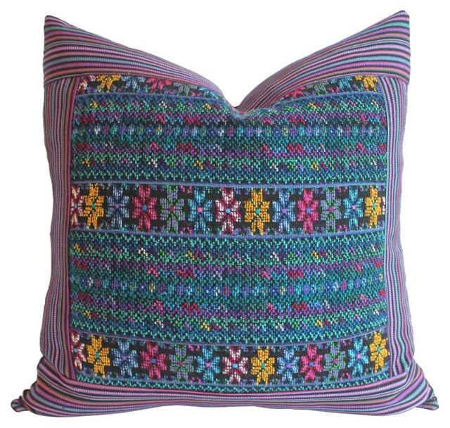 Multicolor   Huipil Pillow