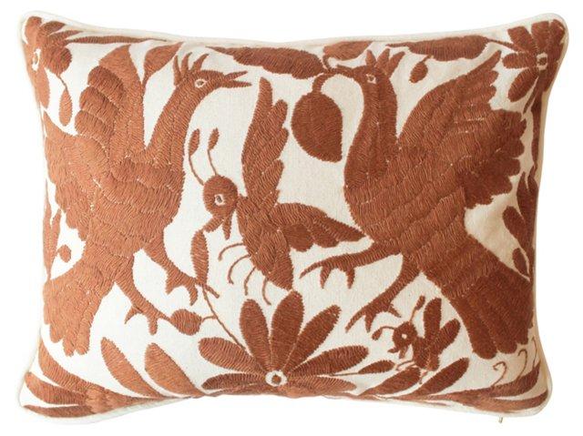 Rust Otomi Pillow