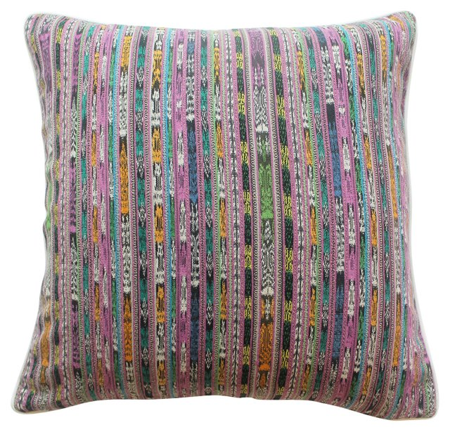 Multicolor Ikat Pillow