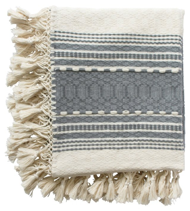 Oaxacan Gray Cotton Throw