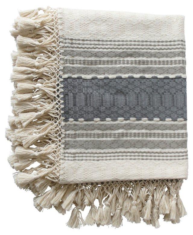 Oaxacan Tan & Gray   Cotton Throw