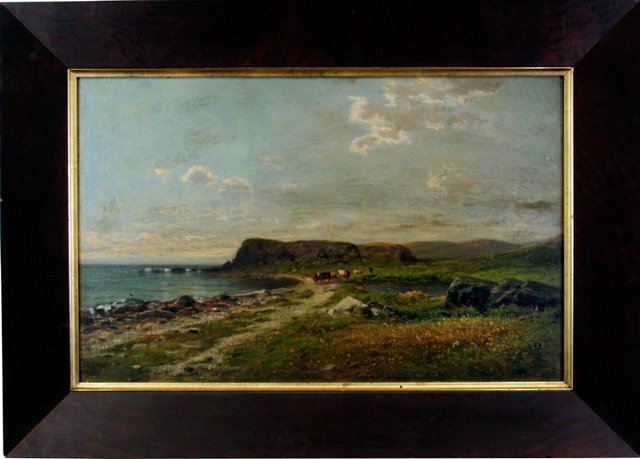 19th-C. Shoreline View by James B. Sword
