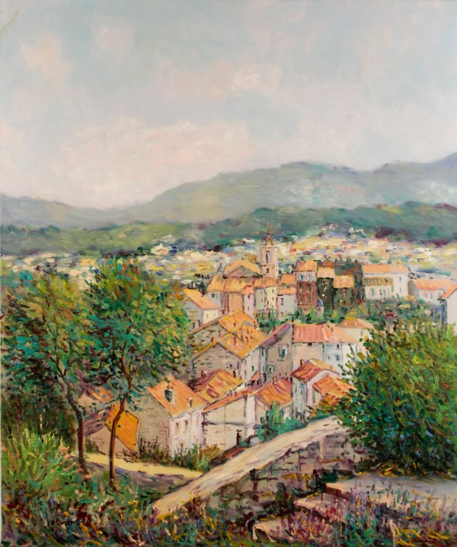 Village in Provence by Y. Kaprielian
