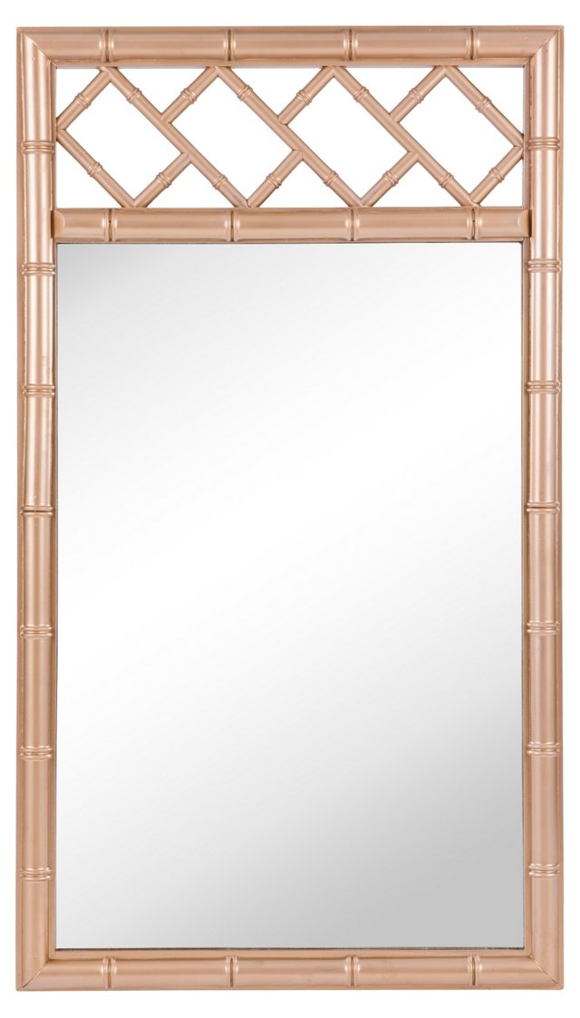 Gold Fretwork Mirror