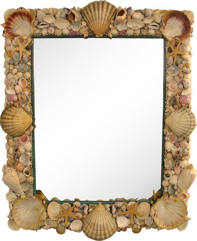 Shell-Encrusted Mirror