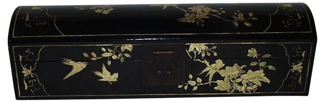 Black Leather Scroll Box