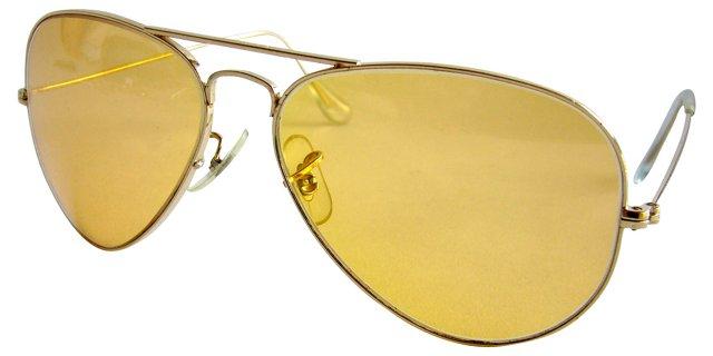 1970s Ray Ban Aviator Sunglasses