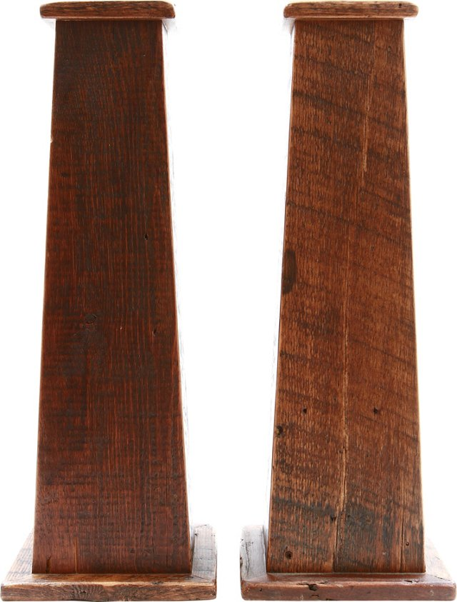 Antique Barn Wood Columns, Pair