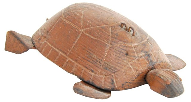Carved African Tortoise